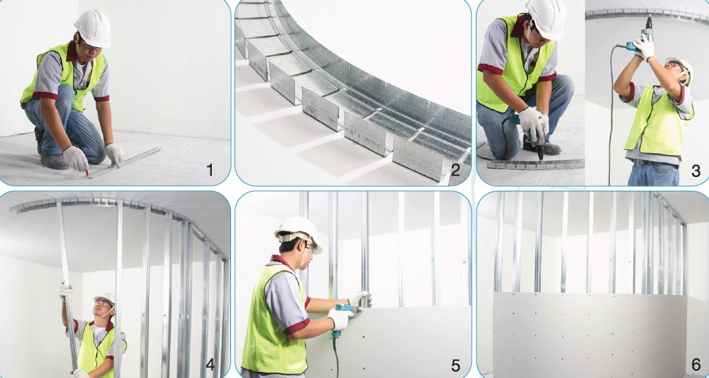 Gypsum board installation guide