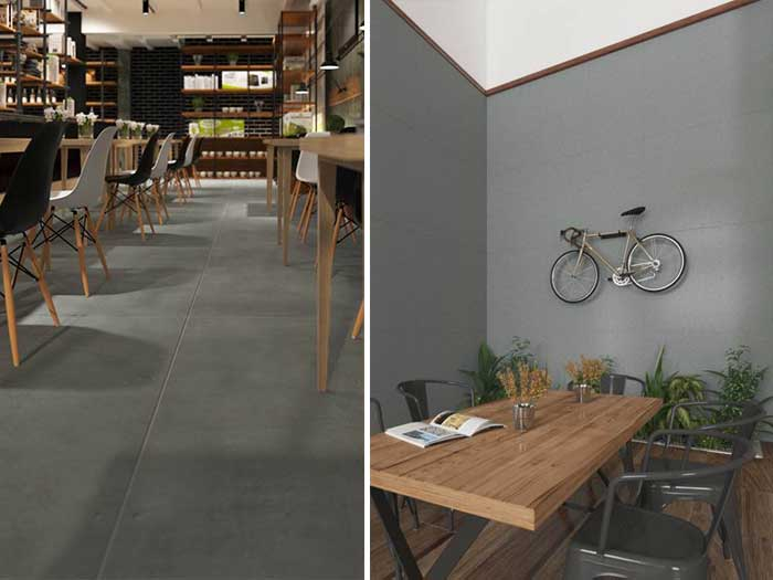 Decorate your home - restaurant to be loft style by using SCG cement board