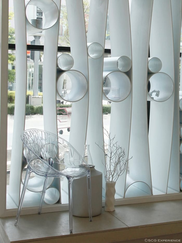 Use of bent fiber cement board for decoration