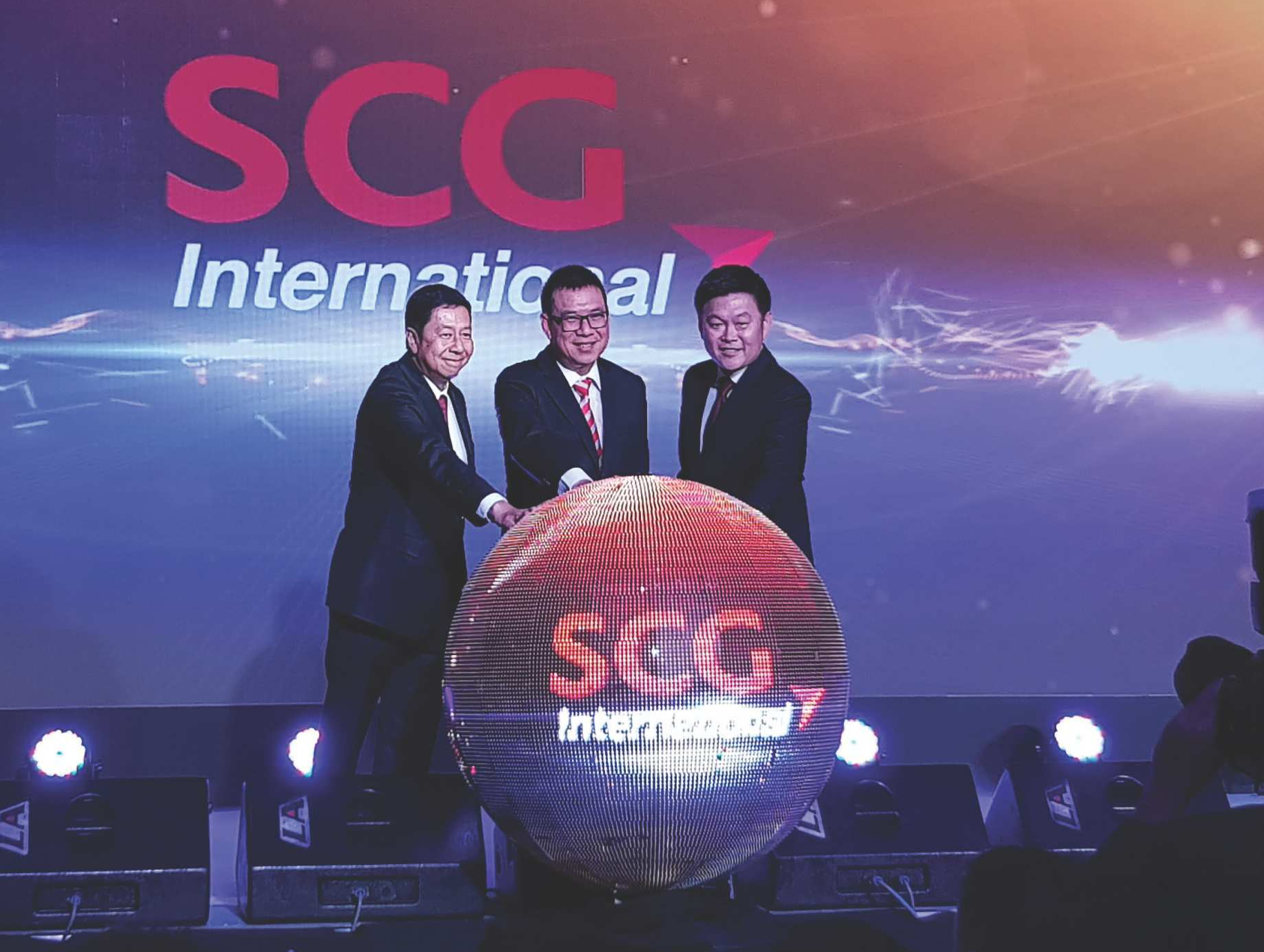 Top Executives celebrate the rebranding scg trading to SCG International Corporation
