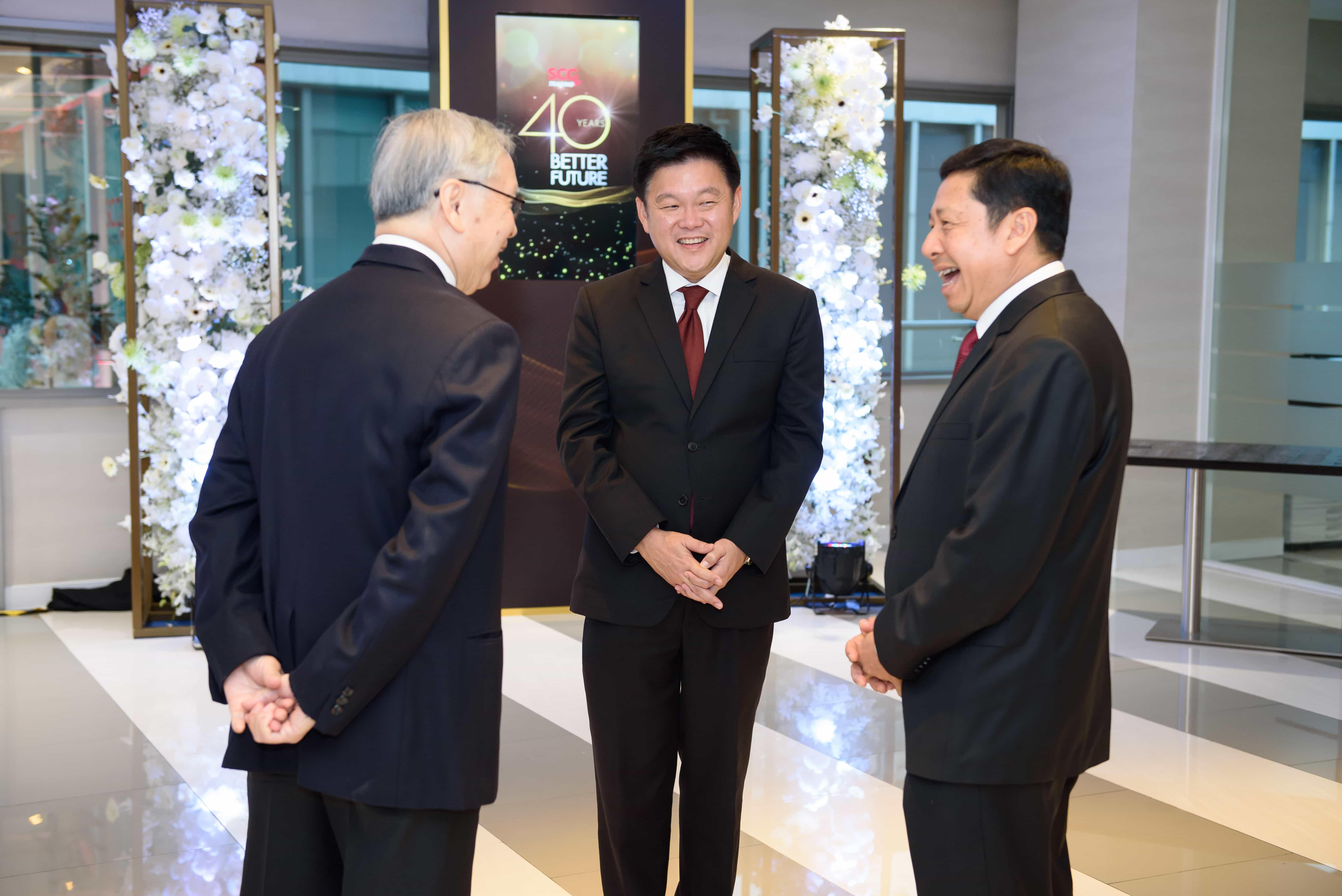 Top Executives celebrate the rebranding to SCG International Corporation
