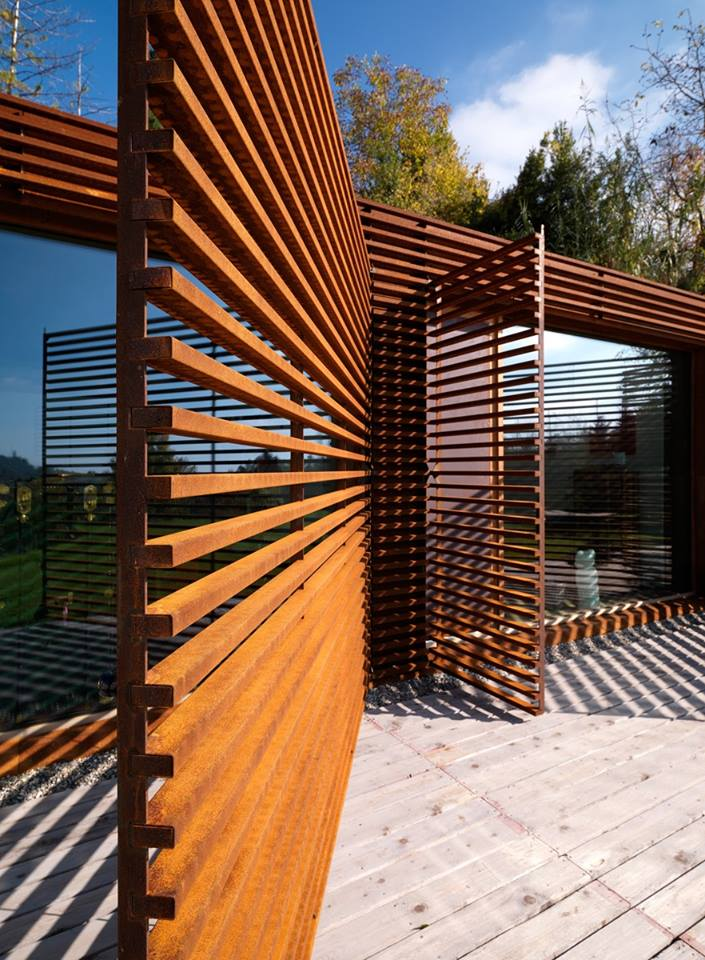 Artificial Wood Sunshade Louvers Idea