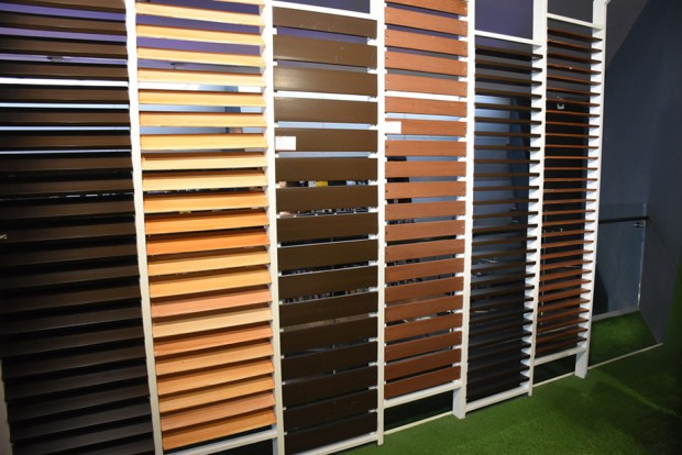 Artificial Wood Sunshade Louvers option