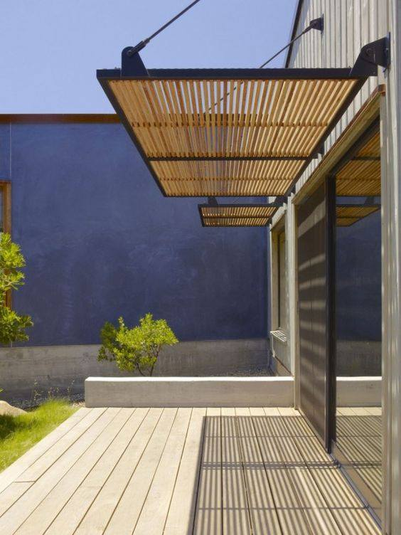 Artificial Wood Sunshade Louvers site reference