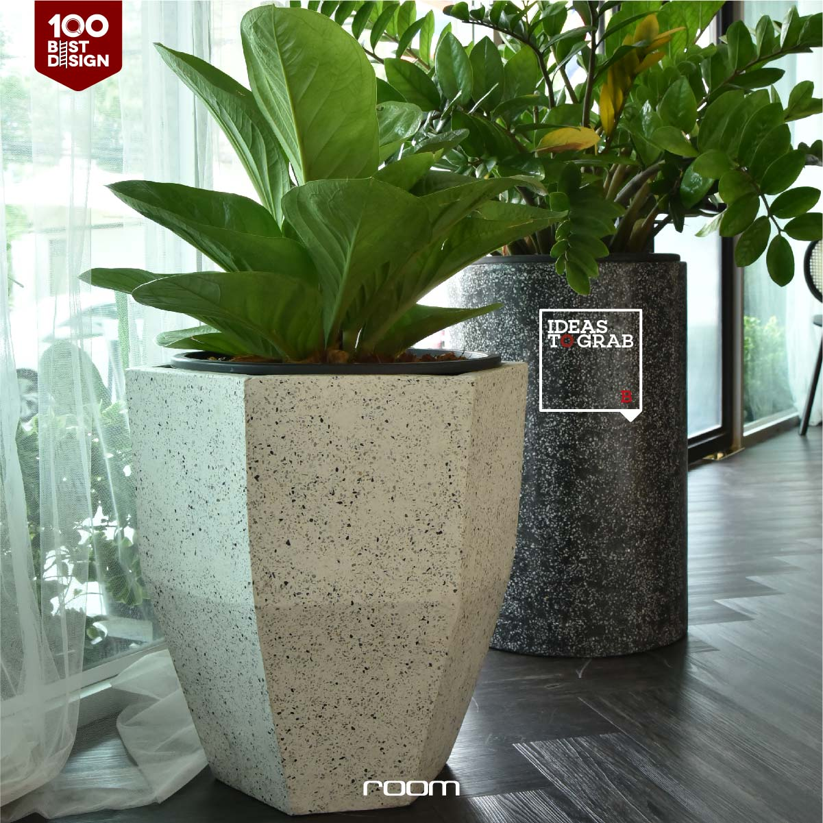 Tree pot for decoration in Cafe or bakeshop