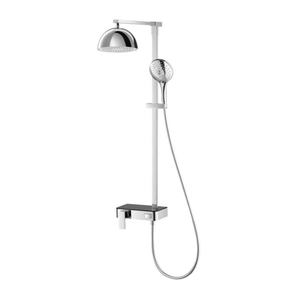 Cotto Exposed Shower Mixer With 3 Fn.Hand Shower_Bluetooth Speaker Rain Shower, Switch Panal - CT2242W