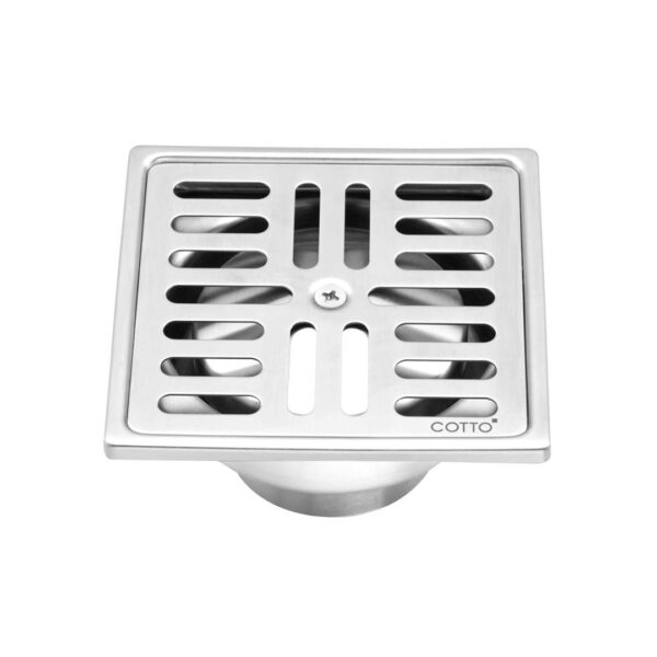 Cotto Stainless Floor Drain,Square Body,For diameter2inch-3inch Pvc Drain Pipe (Flange 4inch) - CT697Z2P(HM)