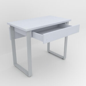 Rockworth Desk with Slim Loop Leg Grey finish