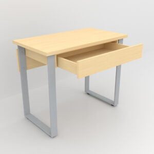 Rockworth Desk with Slim Loop Leg Maple finish