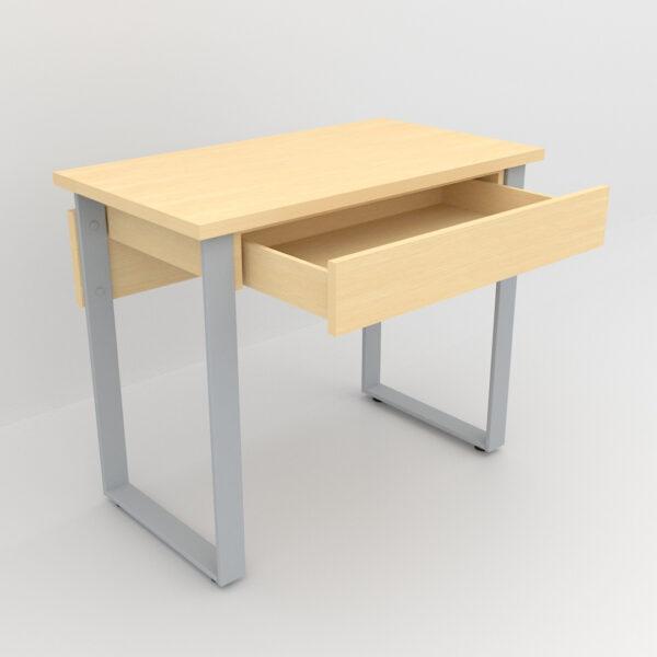 Rockworth Desk with Slim Loop Leg Maple finish