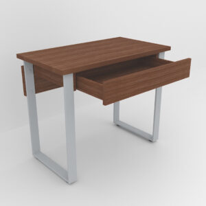 Rockworth Desk with Slim Loop Leg Walnut finish