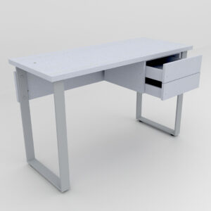 Rockworth Desk with Slim Loop Leg with 2 Drawer Grey finish
