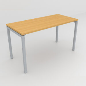Rockworth Desk with Square Profile Stright Leg Beech Finish
