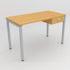 Rockworth Desk with Square Profile Stright Leg and 1 drawer Beech finish