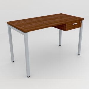 Rockworth Desk with Square Profile Stright Leg and 1 drawer Walnut finish
