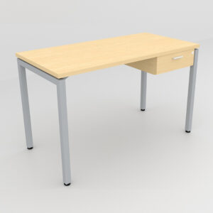 Rockworth Desk with Square Profile Stright Leg and 1 drawer maple finish