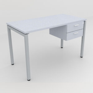 Rockworth Desk with Square Profile Stright Leg and 2 drawer grey finish