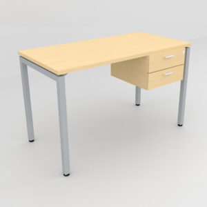 Rockworth Desk with Square Profile Stright Leg and 2 drawer maple finish