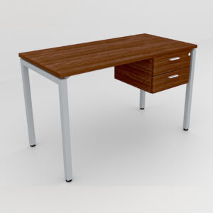 Rockworth Desk with Square Profile Stright Leg and 2 drawer walnut finish