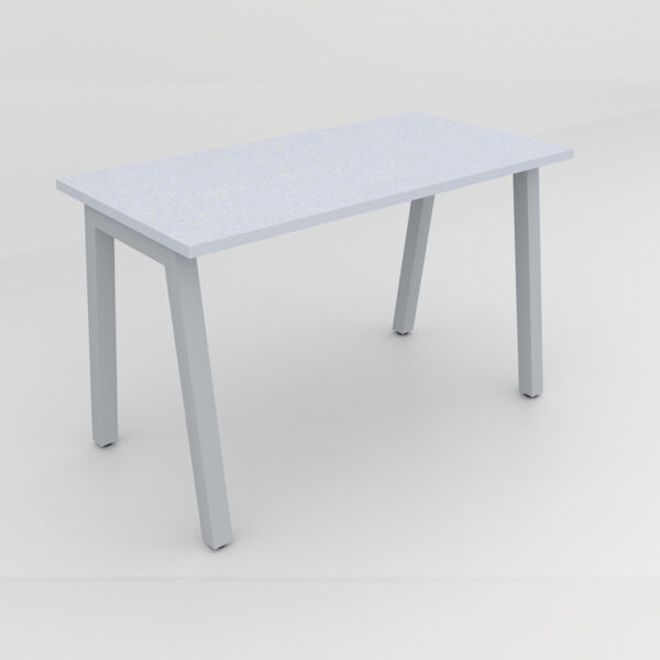 Rockworth Desk with Square Profile Taper Leg Grey Finish