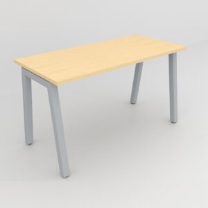 Rockworth Desk with Square Profile Taper Leg Maple finish