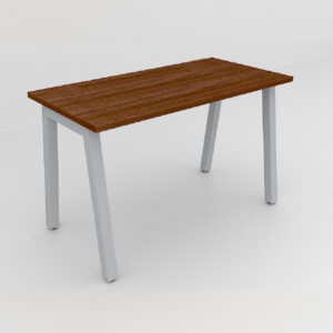Rockworth Desk with Square Profile Taper Leg Walnut finish