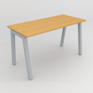 Rockworth Desk with Square Profile Taper Leg beech finish