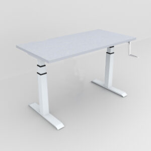 Rockworth HAT Desk Manual Crack Mechanism Grey Finish