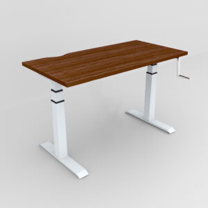 Rockworth HAT Desk Manual Crack Mechanism Walnut Finish