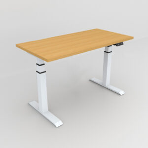 Rockworth HAT Desk Motorised Mechanism Beech finish