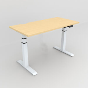 Rockworth HAT Desk Motorised Mechanism Maple finish