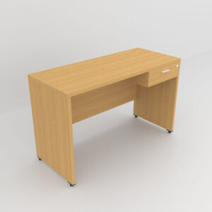 Rockworth Wooden Desk with 1 Drawers, modesty and gable end beech finish
