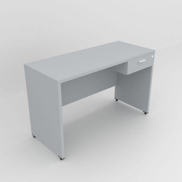 Rockworth Wooden Desk with 1 Drawers, modesty and gable end grey finish