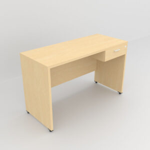 Rockworth Wooden Desk with 1 Drawers, modesty and gable end maple finish