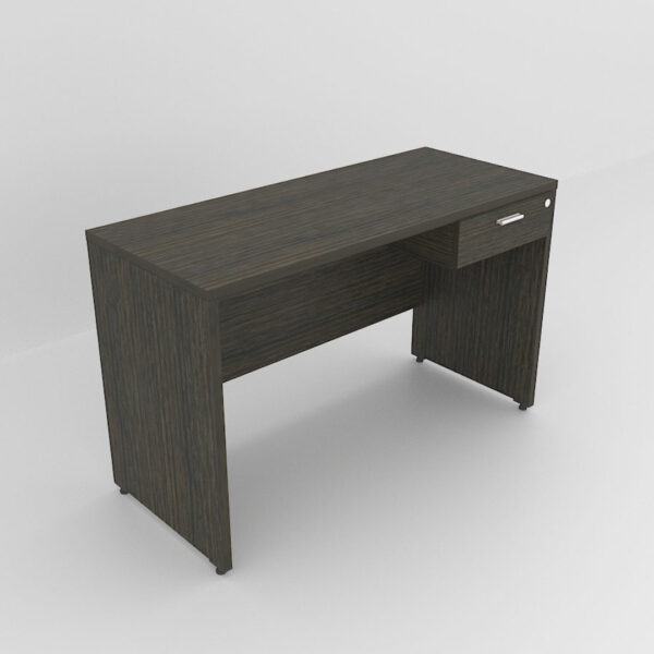 Rockworth Wooden Desk with 1 Drawers, modesty and gable end walnut finish