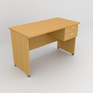 Rockworth Wooden Desk with 2 Drawers, modesty and gable end Beech finish