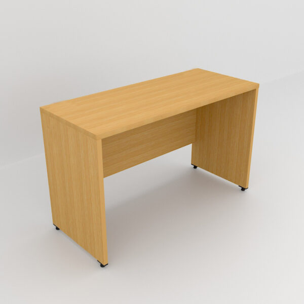 Rockworth Wooden Desk with modesty and gable end Beech finish
