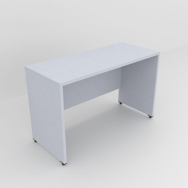 Rockworth Wooden Desk with modesty and gable end Grey finish