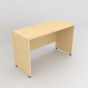 Rockworth Wooden Desk with modesty and gable end Maple finish