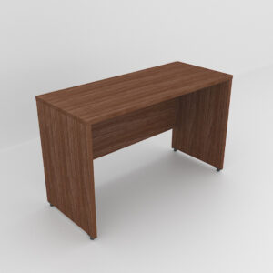 Rockworth Wooden Desk with modesty and gable end Walnut finish